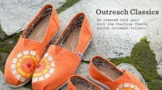 orange TOMS shoes.a bright summer, a bright mood