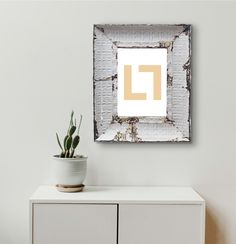 size hanging photo frame made of pressed steel. The antique pressed steel frame with it's beautiful patina lends texture to your special photo memories. A3 Photo Frame, A3 Size, Wall Finishes, Hanging Photos, Photo Memories, Steel Frame, Floating Nightstand, Frames On Wall, Upcycle