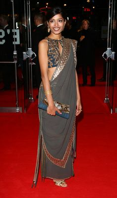 Freida Pinto - London Film Festival: Closing Night -'SlumDog Millionaire'- Red Carpet
