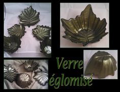 Verre églomisé gilded plates & bowls set