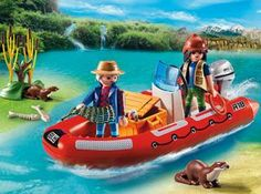 Inflatable Boat with Explorers