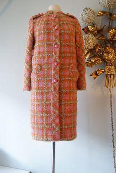 60s Coat // 60s Wool Tweed Coat // Vintage 1960s by xtabayvintage, $198.00