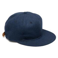 Ebbets field flannels Navy Wool Strapback Cap in Blue for Men