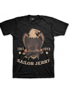 "Men's ""Bold Eagle"" Tee by Sailor Jerry (Black) #InkedShop #Bold #Eagle #Tshirt #Black"