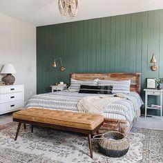 Home Design Diy, Home Interior Design, House Design, Bedroom Green, White Bedrooms, Beautiful Bedrooms, House Rooms, Home Decor Bedroom, Cozy House
