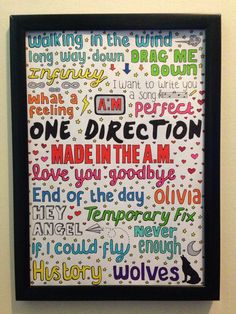 ONE DIRECTION COLLAGE // made in the a.m.