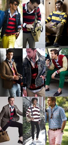 Men's Fashion Basics – Part 73 – The Rugby Shirt Preppy Mens Fashion, Fashion Moda, Rugby Outfits, Prep Boys, Mens Rugby Shirts, Estilo Preppy, Ivy League Style, Ivy Style, Gentleman Style