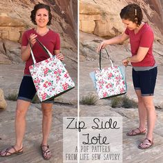This zip side tote bag pattern is the pattern you have been waiting for! With two completely different looks this unique tote has zippers on both side. Grab your copy of this pdf sewing pattern and make yourself a great new tote bag.
