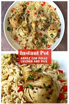 Instant Pot Chicken Drumsticks and Rice Arroz Con Pollo is a quick and easy pressure cooker recipe with Cuban seasonings and Spanish rice This recipe is perfect for weeknight dinners or advanced meal prep InstantPot InstantPotRecipes InstantPotChicken Pressure Cooker Chicken, Instant Pot Pressure Cooker, Pressure Cooker Recipes, Pressure Cooking, Slow Cooker, Pressure Pot, Chicken Cooker, Rice Cooker, Rice Recipes For Dinner