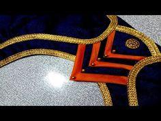 Latest Blouse Neck Designs, Saree Blouse Neck Designs, Simple Blouse Designs, Stylish Blouse Design, Dress Neck Designs, Blouse Patterns, Patch Work Blouse Designs, Design Youtube, Sleeves Designs For Dresses