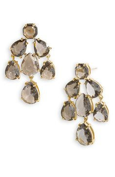 for bridesmaids. kate spade new york faceted chandelier statement #earrings | Nordstrom