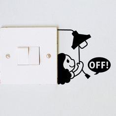 [Visit to Buy] Turn the light off switch sticker wall stickers wallpaper the wall living room bedroom Simple Wall Paintings, Creative Wall Painting, Creative Wall Decor, Wall Painting Decor, Creative Walls, Diy Wall Art, Diy Wall Decor, Diy Painting, Wall Art Designs