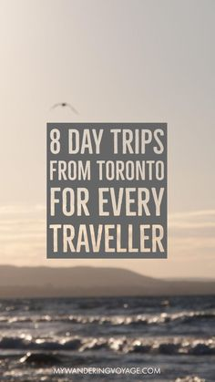 8 day trips from Toronto, Canada for every type of traveller. Check out the spots to go if you're a hiker! If you're a foodie, check out this small city. want to getaway to the beach, then head to this amazing park. Travel in North America.