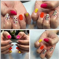 80's inspired nails by paige