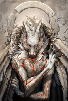 Digital Illustrations by Grypwolf, Fantasy Creatures Arte Furry, Furry Art, Anime Wolf, Fantasy Wolf, Fantasy Art, Fantasy Creatures, Mythical Creatures, Wolf Hybrid, Werewolf Art