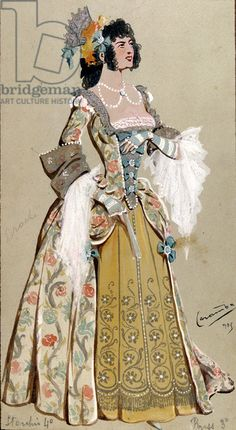 Costume Design for the Countess Almaviva, from 'The Marriage of Figaro', 1905 (gouache on paper)