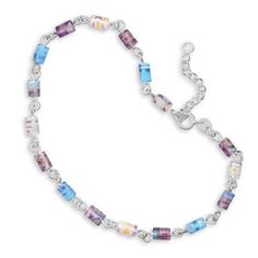 Sterling Silver Millefiori bead anklet.  $51.45