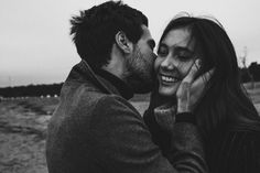 Gorgeous black and white couple photography