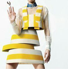 #jacquemus #yellow #white #weird #stripes