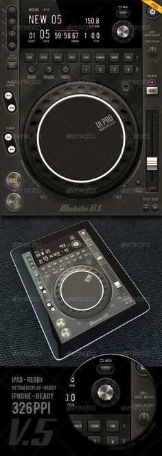 Tablet/Phone User Interface PROFESSIONAL SET V . 5.0 / MOBILE DJ by diegomonzon