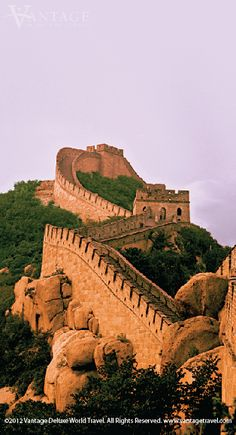 The Great Wall of China at Badaling.  It's steep walking up these stairs!