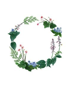 Blooming Memories  Shade Garden Wreath Print by maggierutherford, $23.00