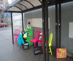 In New York, instant, guerrilla installations are set up by readers themselves