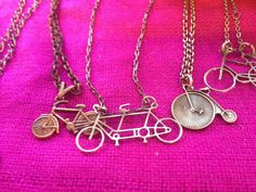 Tandem bike pendants made in Quebec . Buy them in store or online at www.adorit.ca Tandem, Fabric Material, Quebec, Fair Trade, Pendants, Bike, Boutique, Store, Awesome