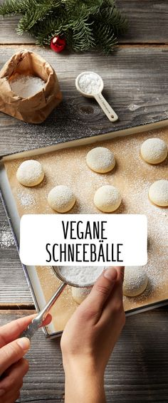Vegane Schneebälle - Gifts and Costume Ideas for 2020 , Christmas Celebration Pumpkin Recipes, Cookie Recipes, Best Pancake Recipe, Easy Chicken Pot Pie, Vegan Christmas, Christmas Cookies, Vegan Sweets, Biscuits, Bakery