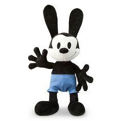 Disney Store Oswald the Lucky Rabbit Plush Toy Black Stuffed Animal Doll Disney Toys, Baby Disney, Disney Mickey Mouse, Disney Plush, Disney Stuff, Epic Mickey, Oswald The Lucky Rabbit, Big Plush, Disney Nursery