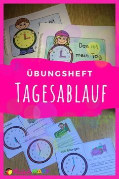 With this material, your students practice the time, time and certain daily routines. Exercise Book, Daily Exercise, German Resources, Thing 1, Air Conditioning System, Electronic Media, Wind Power, Workplace, Routine