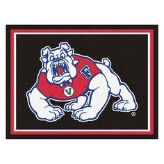 Fresno State Bulldogs 8x10 Plush Area Rug