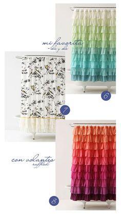 VINTAGE & CHIC: decoración vintage para tu casa · vintage home decor: 16 cortinas de baño / ducha realmente bonitas · 16 beautiful shower / bathroom curtains