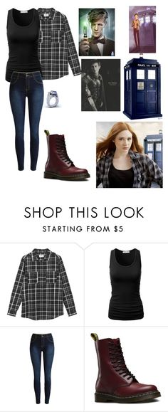 """""""amy pond"""" by doctorandtotoro ❤ liked on Polyvore featuring Hush and Dr. Martens"""