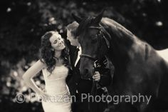 Pre-wedding pictures - couple with horse in Squamish, BC captured by Vancouver wedding photographer - Povazan Photography - North Vancouver based wedding photographers