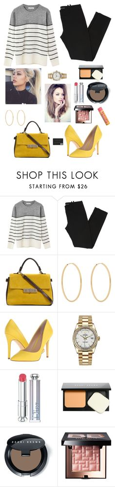 """Hottie On The Go"" by izzie1800 ❤ liked on Polyvore featuring Balenciaga, Loren Stewart, Charles by Charles David, Rolex, Christian Dior, Bobbi Brown Cosmetics and Burt's Bees"