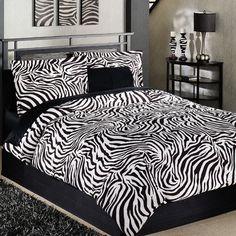 Nairobi Mini Zebra Print Comforter Set