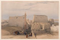 Grand entrance to the Temple of Luxor by David Roberts