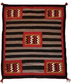 Navajo Chiefs 3rd Phase Variant with Lightning Motifs    c. 1925-30    60 x 51