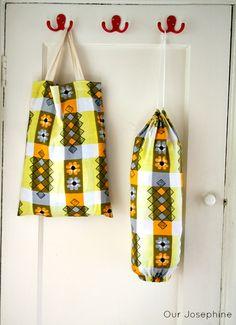 Tutorial: Our Josephine Sews… An ever so useful Bag Holder Set