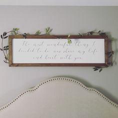 Sign above bed. Smallwood home signs. Farmhouse momma. Farmhouse bedroom decor.