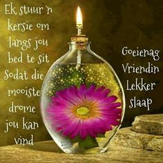 Lekker Dag, Good Night Blessings, Goeie Nag, Goeie More, Afrikaans Quotes, Good Night Quotes, Morning Greeting, Bible Verses Quotes, Christmas Bulbs