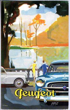 car vintage poster