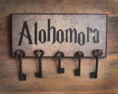 Hey, I found this really awesome Etsy listing at https://www.etsy.com/listing/225981151/alohomora-key-holder-ready-to-hang-great