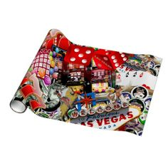 Las Vegas Icons - Gamblers Delight Gift Wrapping Paper shipping to Fort Worth, TX Vegas Nails, Paper Ship, Gift Wrapping Paper, Table Cards, Favor Boxes, Paper Napkins, Zazzle Invitations, Party Supplies, Las Vegas