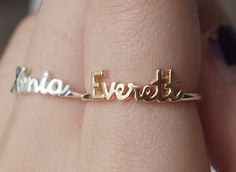 20% OFF* - Personalized Name Ring - Children Name Ring - Stackable Name Ring - Silver Ring - Gift for Mom - PR04F1