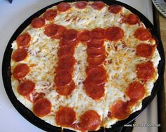 "Make a ""pizza pi""! And for non-edible ideas: have kids write a story where the digits of pi determine the word length. For example, the first word would have three letters. The second, one letter, and so on."