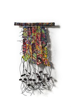 Fiber Art Now... abstract weaving contemporary textile art wall hanging