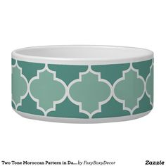 Two Tone Moroccan Pattern in Dark and Light Blue Bowl