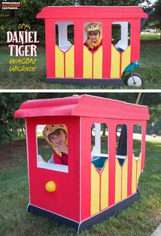 Diy Daniel Tiger Trolley - My shed plans elite also contains several bonuses as wellthese bonuses are called. The trolley is approximately 12 inches wide and 8 inches tall. Daniel Tiger Costume, Daniel Tiger Party, Daniel Tiger Birthday, Daniel Tiger Cake, Third Birthday, 3rd Birthday Parties, Boy Birthday, Birthday Ideas, Tiger Halloween